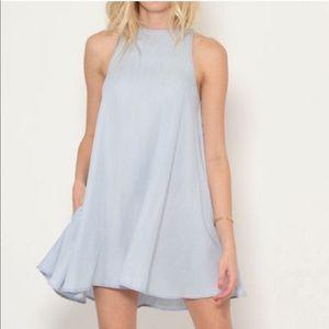 Rails Anya Chambray Denim Mini Swing Dress